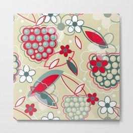 Flowers and Fruit Metal Print