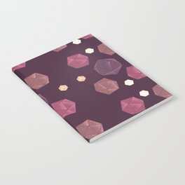 Red and Purple DnD Dice Notebook