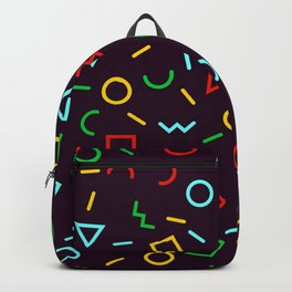 Very Colorful, Trendy Geometric Pattern Backpack