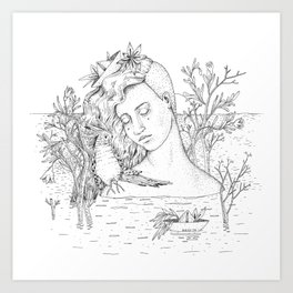 Pomegranate Island Art Print