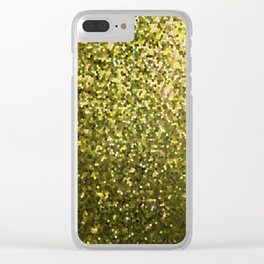 Mosaic Sparkley Texture Gold G188 Clear iPhone Case