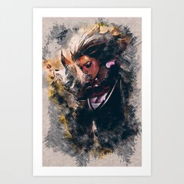 BLOOD MOON DIANA - League of Legends Art Print