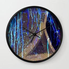 Graffiti & Glow Paint Wall Clock