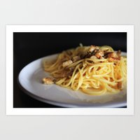 pasta Art Prints featuring Pasta by alemazza