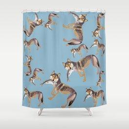 Totem Coastal wolf (c) 2017 Shower Curtain