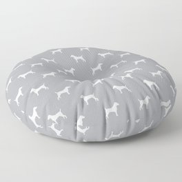 Jack Russell Terrier grey and white minimal dog pattern dog silhouette pattern Floor Pillow