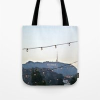 hollywood Tote Bags featuring Hollywood  by jennerlinds
