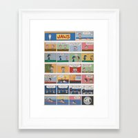 peanuts Framed Art Prints featuring Jaws/Peanuts by Charles Forsman