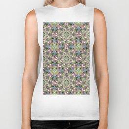 Abstract Flower Pattern AA YY Q B Biker Tank