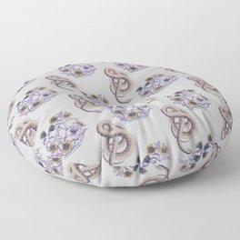 Snake N' Flowers Floor Pillow