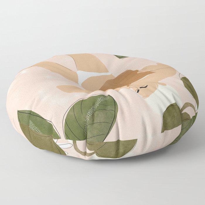 Life Is Better Without Bra Floor Pillow