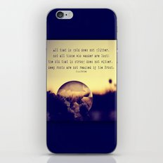 Tolkien Bubble at Sunrise iPhone & iPod Skin