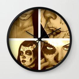 'Ink Mosaic II' Wall Clock