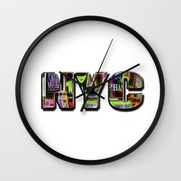 NYC (typography) Wall Clock