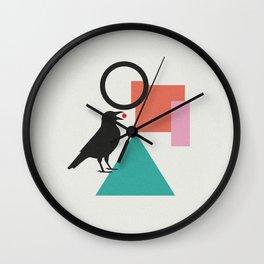 constructivist bird Wall Clock
