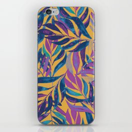 lost in vibrant autumn leaves iPhone Skin