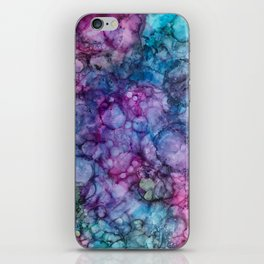 Abstract Purple and Blue iPhone Skin