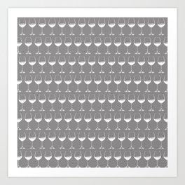 Wine Glasses on Grey Kunstdrucke