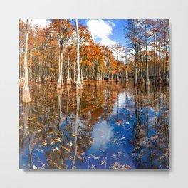 Cypress Swamp Panorama in George L. Smith State Park, Georgia Metal Print