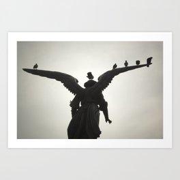 Angel in the Park Art Print