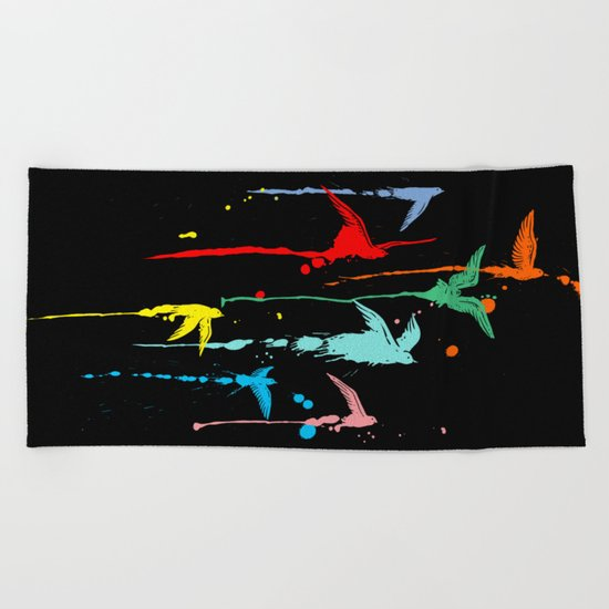 Flying colors Beach Towel