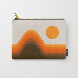 Golden Horizon Diptych - Left Side Carry-All Pouch