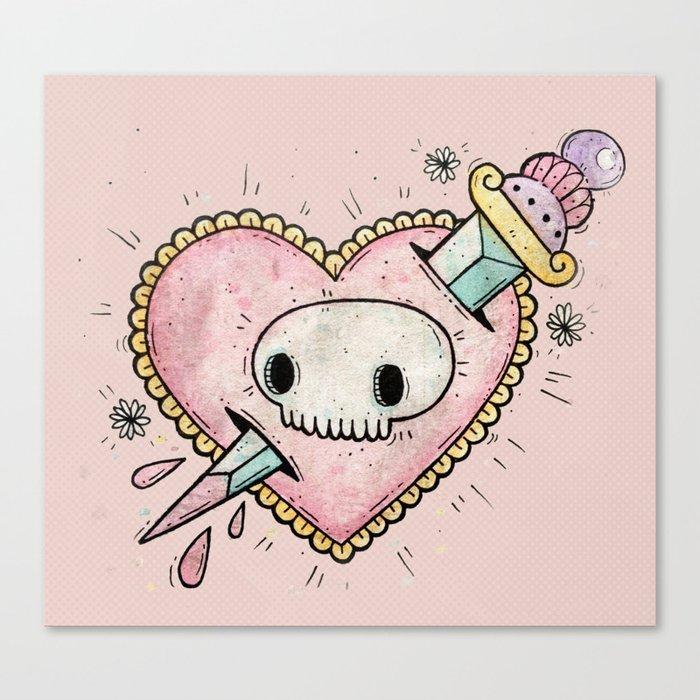 Stab My Heart Canvas Print