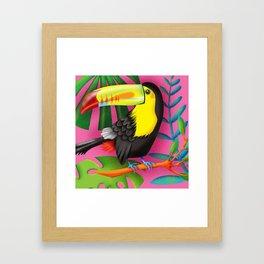Toucan Tropic Framed Art Print