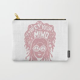 Open Your Mind in pink Carry-All Pouch