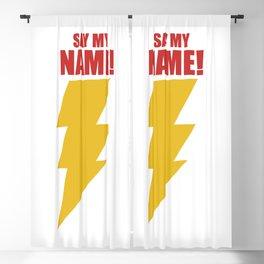 Shazam (Say My Name!) DC Comics Fan Art Blackout Curtain