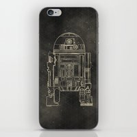 r2d2 iPhone & iPod Skins featuring R2D2 by LindseyCowley