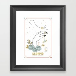 Scorpio Zodiac Series Framed Art Print