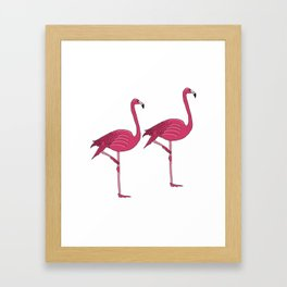 Felicty the flamingo Framed Art Print