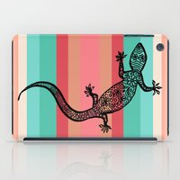 southwest iPad Cases featuring Southwest Gecko by Lisa Argyropoulos