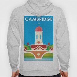 Cambridge, Massachusetts - Skyline Illustration by Loose Petals Hoody