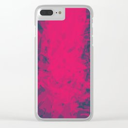 Shattered Purple Clear iPhone Case