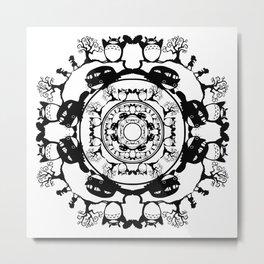 Totoros Mandala Metal Print