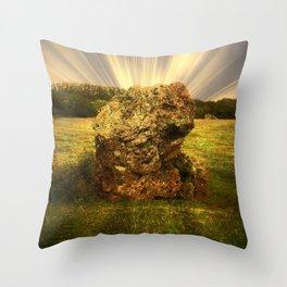 Ancient Stone at Stanton Drew, Somerset. Throw Pillow
