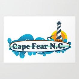 Cape Fear - North Carolina. Art Print