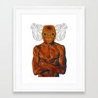 demon Framed Art Prints featuring Demon by Rofi