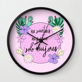 Sólo Mujeres Wall Clock