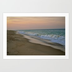 Sunset on the Beach Art Print