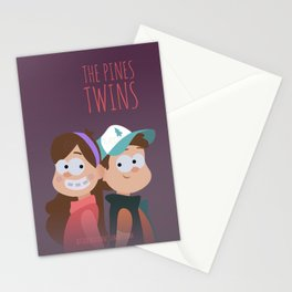 The Pines Twins Stationery Cards