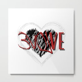 MHiCreates: EVOLVE with Love in double heart  Metal Print