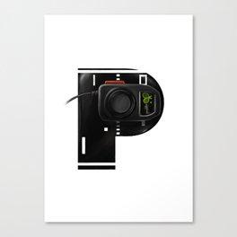 Geek letter P Canvas Print