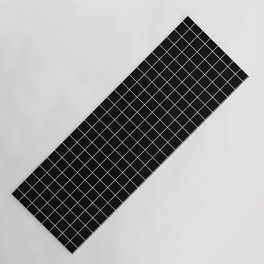 Grid Simple Line Black Minimalist Yoga Mat