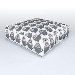 Holiday Tea Cup Hedgehog Outdoor Floor Cushion