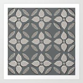 Jaipur Trellis Graphite Art Print