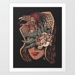 Aztec Eagle Warrior Art Print