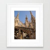 milan Framed Art Prints featuring Milan by Alan Wong